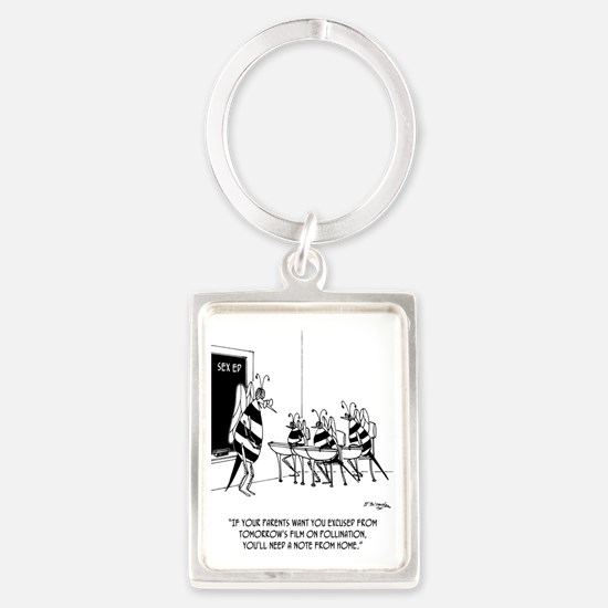 Bees in Sex Ed Portrait Keychain