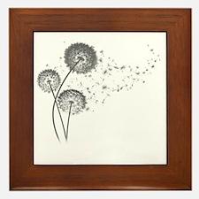 Dandelion Wishes Framed Tile