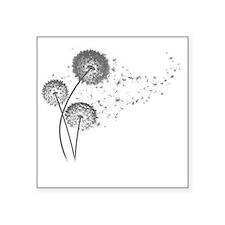 """Dandelion Wishes Square Sticker 3"""" x 3"""""""