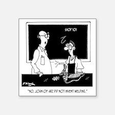 "Joan of Arc  Welding Square Sticker 3"" x 3"""