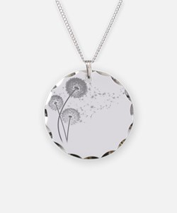 Dandelion Wishes Necklace Circle Charm