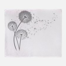 Dandelion Wishes Throw Blanket