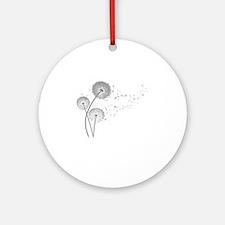 Dandelion Wishes Round Ornament