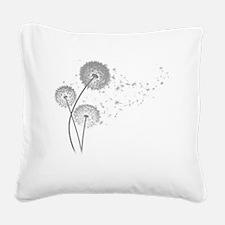 Dandelion Wishes Square Canvas Pillow