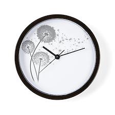 Dandelion Wishes Wall Clock