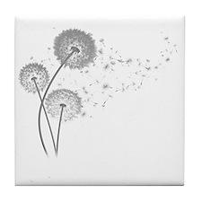 Dandelion Wishes Tile Coaster