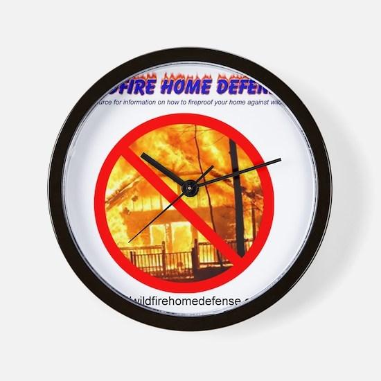 Wildfire Home Defense T-Shirt (Back) Wall Clock