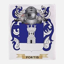 Fortis Coat of Arms Throw Blanket