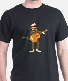 Sock Monkey Acoustic Guitar Player T-Shirt