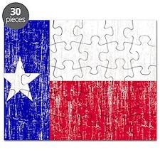 Vintage Texas Flag Puzzle