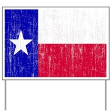 Vintage Texas Flag Yard Sign