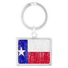 Vintage Texas Flag Landscape Keychain