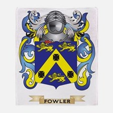 Fowler Coat of Arms Throw Blanket