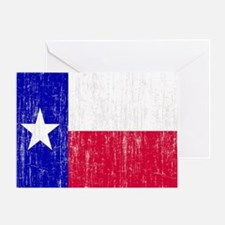 Vintage Texas Flag Greeting Card