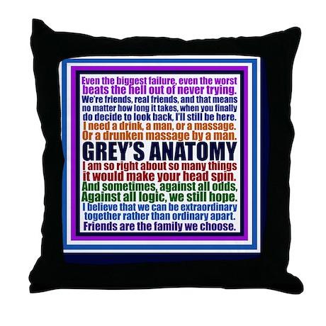 greysking Throw Pillow