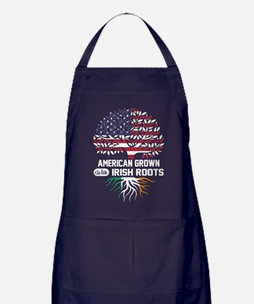 AMERICAN GROWN WITH IRISH ROOTS Apron (dark)