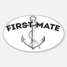 First Mate copy Sticker (Oval)