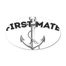 First Mate copy Oval Car Magnet
