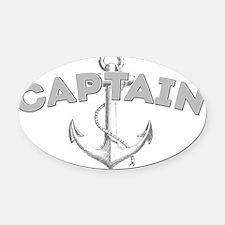 Captain dark Oval Car Magnet