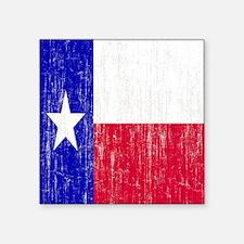 """Vintage Texas Flag Square Sticker 3"""" x 3"""""""
