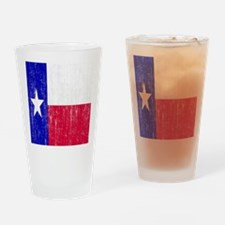 Vintage Texas Flag Drinking Glass