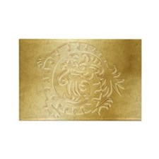 Gold Dragon Icon on Gold - 1 Rectangle Magnet
