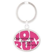 10K Run Pink Oval Keychain