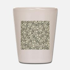 100 Dollar Bill Pattern Shot Glass