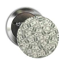 "100 Dollar Bill Pattern 2.25"" Button"