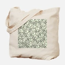 100 Dollar Bill Pattern Tote Bag