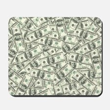 100 Dollar Bill Pattern Mousepad