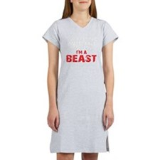 IM A BEAST - BLACK Women's Nightshirt