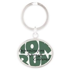 10K Run Green Oval Keychain
