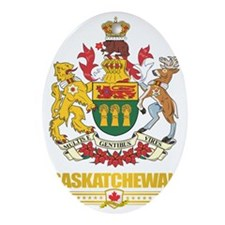 Saskatchewan Coat of Arms Oval Ornament