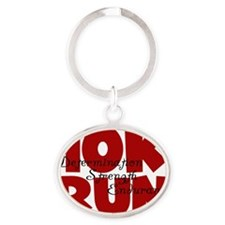10K Run Red Oval Keychain