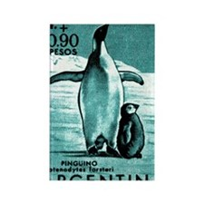 1961 Emperor Argentina Penguins P Rectangle Magnet