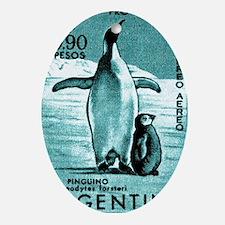 1961 Emperor Argentina Penguins Post Oval Ornament