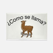 Llama Rectangle Magnet