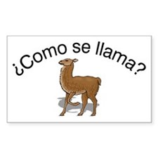 Llama Rectangle Decal