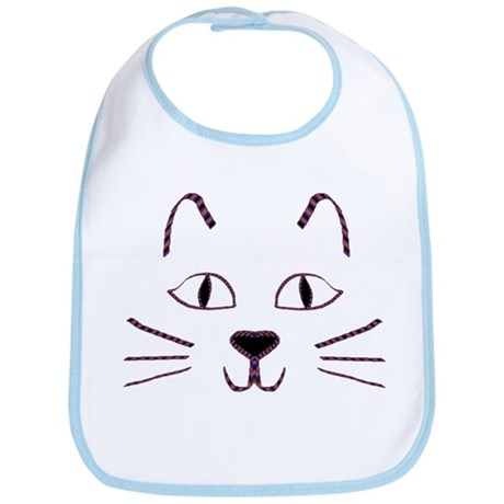 Purple Kitty Bib