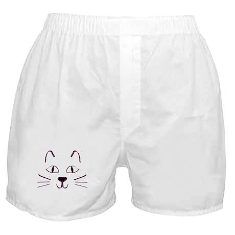 Purple Kitty Boxer Shorts