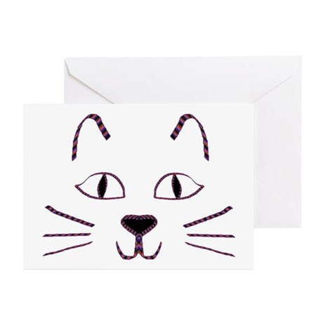 Purple Kitty Greeting Cards (Pk of 10)
