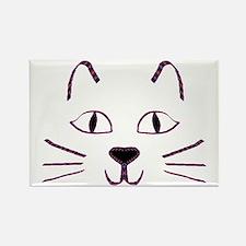 Purple Kitty Rectangle Magnet
