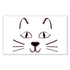 Purple Kitty Rectangle Decal