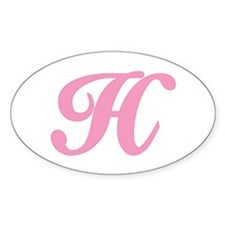 H Initial Oval Decal