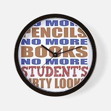 Teacher Retirement Gift Idea Wall Clock