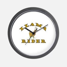 Llama Rider Wall Clock