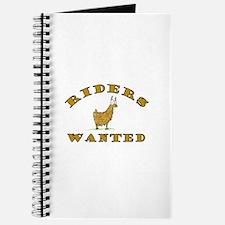 Llama Riders Wanted Journal