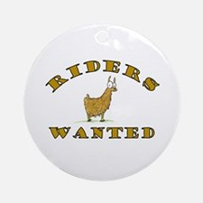 Llama Riders Wanted Ornament (Round)