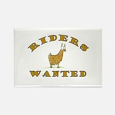 Llama Riders Wanted Rectangle Magnet